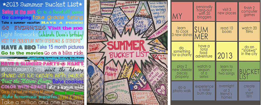 photo about Tumblr Bucket Lists called Summertime Bucket Checklist\